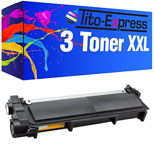 PlatinumSerie® 3x Toner compatible con Brother TN-2320 Black HL-L 2300D 2300 Series 2320D 2321D 2340DW 2360DN 2360DW 2361DN 2365DW 2380DW