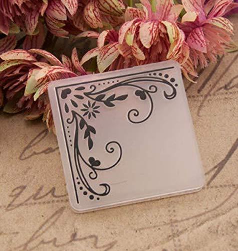 RKZM voorhoofd voor het maken van kaarten DIY album kaarten maken gereedschap bump plastic sjabloon hoek bloem 5 x 5 cm