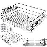 Kesser® Teleskopschublade 60 cm ✓ Küchenschublade ✓ Küchenschrank ✓ Korbauszug ✓ Schrankauszug ✓ Vollauszug ✓ Schublade