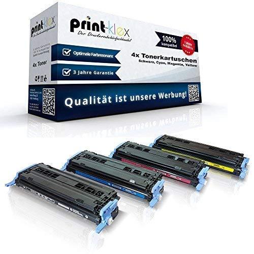 Print-Klex kompatibles XXL Toner Set - (alle 4 Farben) für HP Q6000a Q6001a Q6002a Q6003a HP Color Laserjet 1600 Color Laserjet 2600 Color Laserjet 2600N 2605 DN 2605 DTN CM1015 MFP CM1017 MFP