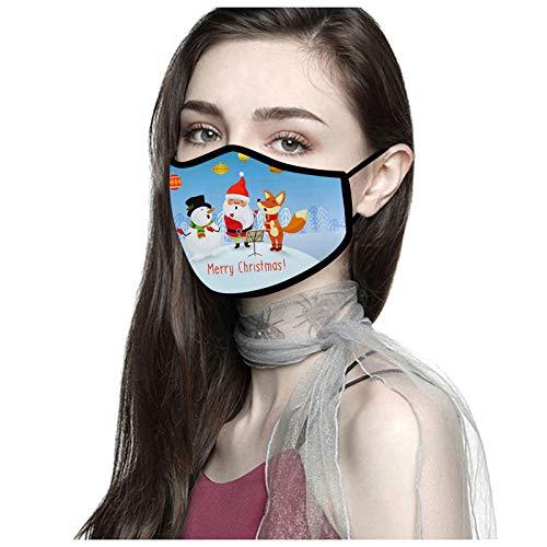 YOYIK 5pc Protectora de Algodón para Adultos Face covering Unisex Lavable y Reutilizable a Prueba de polvo y transpirable