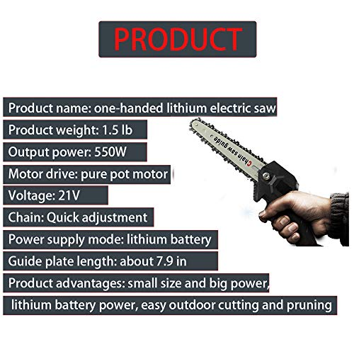 24v Mini Chainsaw Battery Powered Chainsaw 6-Inch Cordless Electric Portable Chain Saw With Copper Motor, Hand Chainsaw Pruning Shears Chainsawwood Cutting Pruning And Gardening