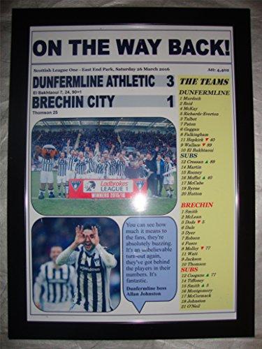 Lilywhite Multimedia Dunfermline Athletic 3 Brechin City 1 - Dunfermline champions - 2016 - framed print