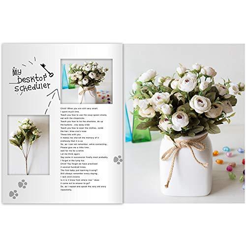 YSoutstripdu 1 Stück Künstliche Blume, Zierpflanzen Kameliengarten DIY Party Hochzeit Festival Handwerk rot
