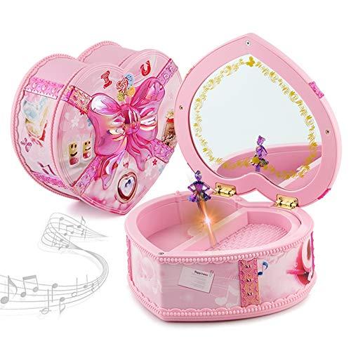 Earthily Niña joyería música Caja de Boxeo Bailarina joyería música Caja Rosa niña Infancia Recuerdos Musical Bailarina joyería Caja Caja Cajas de joyería Caja (Color : A)