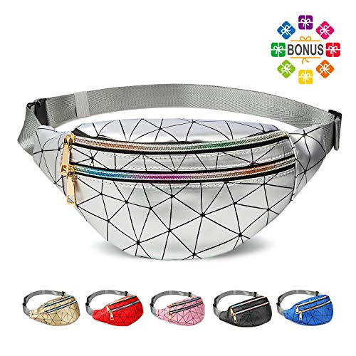 Fanny Packs for Women Men, Cute Fanny Pack for Kids Teens Girls Boys, Fashion Waterproof Waist Pack with Multi-Pockets Adjustable Belt, Casual Bag Bum Bags Hip Pouch for Travel Hiking Concert Festival