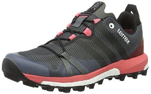adidas Damen Terrex Agravic GTX Boost Woman Trekkingschuhe Trekking-& Wanderhalbschuhe, Grau (Vista Grau/Core Schwarz/Super Blush), 41 1/3 EU