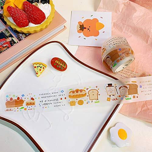 YFB Niedliche Hand Konto Material japanische einfache dekorative Aufkleber Klebeband DIY und Papier Studenten mit Farbe Hand Buch Keks Toast Bösewicht