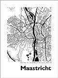 Poster 30 x 40 cm: Stadtplan von Maastricht von 44spaces -