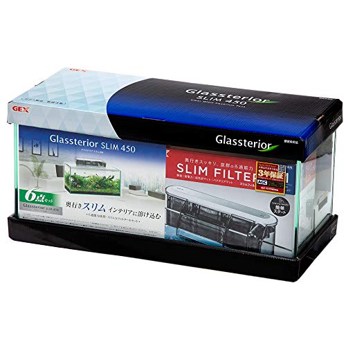 ジェックス 45cm水槽セット グラステリア スリム450水槽 6点セット 初心者