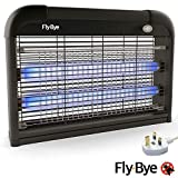 Fly-Bye - Insect Killer 20W UV Light - Attract and Zap Flying Insects - The Power of a Commercial Zapper Made For The Home - 2800v Killing Mesh Grid, with Detachable Chain - Limited Black Edition