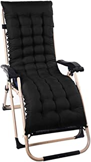 Djyyh Sun Lounger Cushion Replacement Luxury Classic Pads Patio Garden Deck Chair Recliner Lounge Thick Pad Outdoor Topper Relaxer Seating Covers (Color : Black, Size : 1Pc)