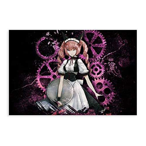 Anime Steins Gate Faris Nyannyan 1 póster de lona para decoración de dormitorio, deportes, paisaje, oficina, habitación, decoración, regalo de 50 x 75 cm
