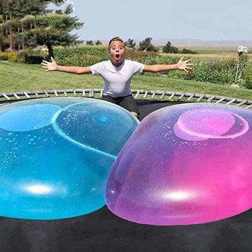 Vercico Bubble Ball para Agua Juguete Inflable de Globo de Burbuja Pelota de Goma Suave Sobredimensionada Playa Jardín Fiesta al Aire Libre (Azul)