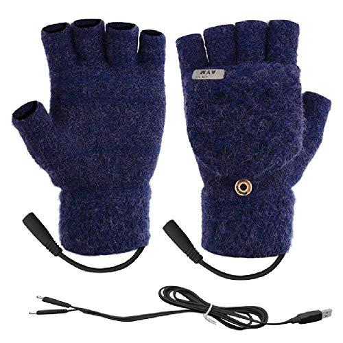 amly Laptop Frauen Männer Usb beheizte Fäustlinge Voll & Halbfinger Winter Warm gestrickte Handhandschuhe Herbst und Winter können Winterhandschuhe aufgeladen werden