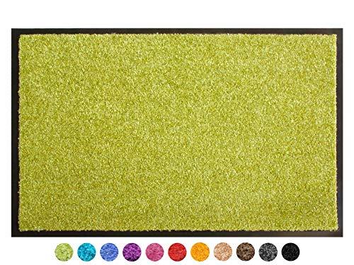 Primaflor - Ideen in Textil Schmutzfangmatte CLEAN – Grün 120x180 cm, Waschbare, rutschfeste, Pflegeleichte Fußmatte, Eingangsmatte, Küchenläufer Sauberlauf-Matte, Türvorleger für Innen & Außen