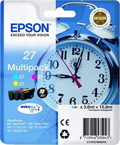 Epson C13T27054022 Tri Farbe (Gelb, Magenta, Cyan) Original Tintenpatronen Pack of 1