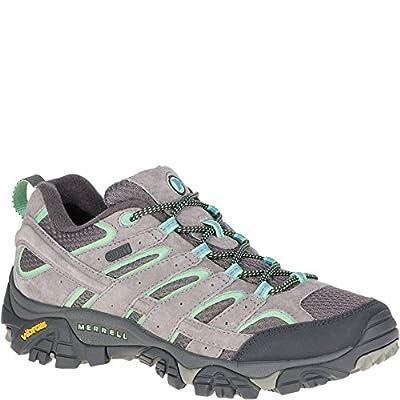 Merrell Women's Moab 2 Waterproof Hiking Shoe, Drizzle/Mint, 9.5 W US