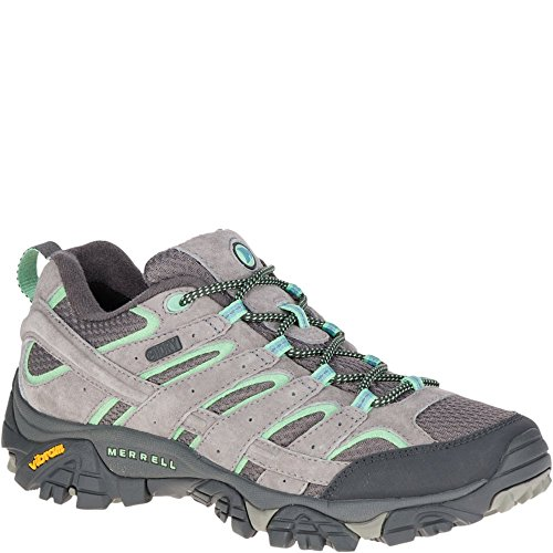 Merrell Women's Moab 2 Waterproof Hiking Shoe, Drizzle/Mint, 8 M US