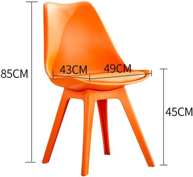 Président WGZ- Accueil Creative Moderne Simple Chaise en Plastique Simple (Color : A) D