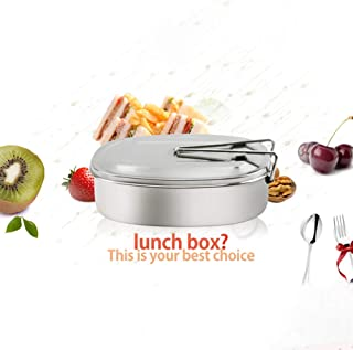 ETbotu Stainless Steel School Lunch Box with Handle Food Container Bento Box for Adults Students Supplies