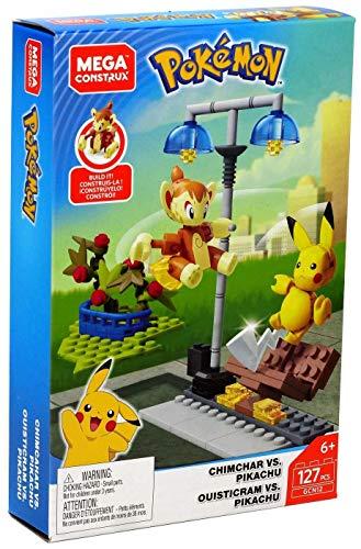 Mega Construx GCN12 - Pokemon Panflam vs. Pikachu Bauset mit 127 Bausteinen, Spielzeug ab 6 Jahren