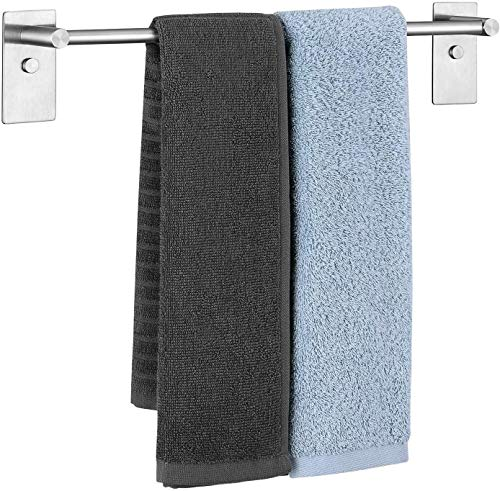 Umi. by Amazon - Toallero adhesivo de acero inoxidable 304, soporte de toallas, porta toallas para baño, cocina, toallero sin taladro, 38,3 cm (44,5 cm)