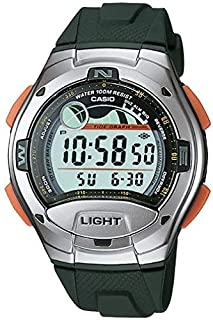 casio tide graph display,moon graph show watch W-753-3A