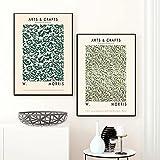 SHKJ Lienzo con Forma de Flor Abstracta, Pintura escandinava, Arte de Pared, Manualidades, pósteres Impresos para Sala de Estar, 3 Piezas, 40x60 cm / 15,7'x 23,6', Sin Marco