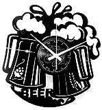 Instant Karma Clocks Orologio in Vinile da Parete Bar Barman Cocktail Beer Birra, Vintage, Handmade