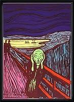 ポスター アンディ ウォーホル Sunday B Morning The Scream (After Munch) 限定1500枚 証明書付 額装品 ウッドハイグレードフレーム(ブラック)