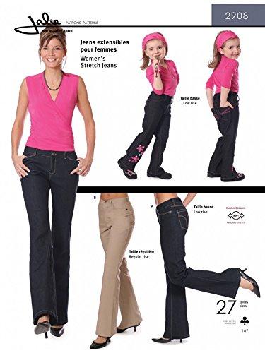 Jalie 2908 Stretch-Jeans für Damen und Mädchen