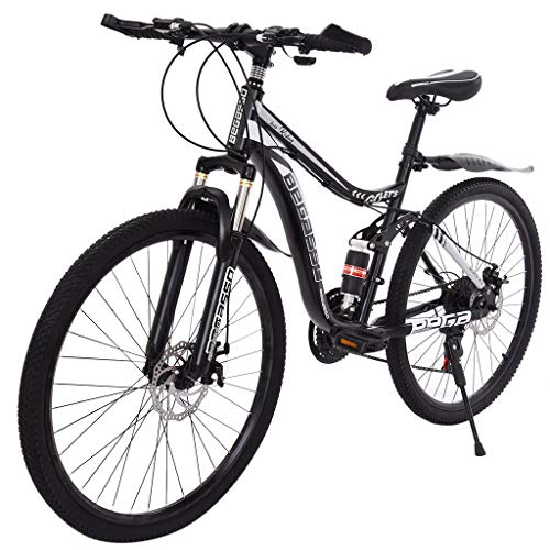 Mountain Bike Bike (Ship from US) 26in Carbon Steel Mountain Bike 21 Speed MTB Bicycle Full Suspension Bike for Adult MTB Bike sFitness & Bodybuilding