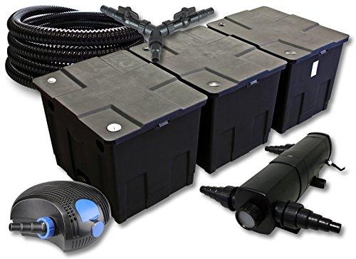 SunSun Filter Set für 90000l Teich mit 36W Teichklärer und 100W ECO Pumpe 25m Schlauch