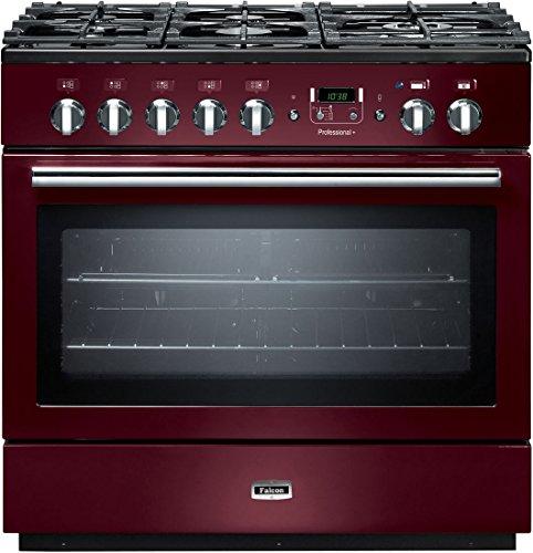 Falcon PROP90FXD Built-in Cooker Gasherd, A Rot – Ofen und Herde (integrierter Cooker, rot, Knöpfe, drehbar, vorne, elektronisch, Gasherd)
