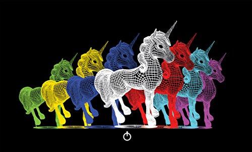 Lámpara de unicornio 3D