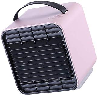 Vkospy Mini Ventilador de refrigeración del Aire de Escritorio portátil USB con alimentación del Ventilador Recargable de Iones Negativos Ventilador eléctrico del Ventilador Mini eléctrico, Rosa