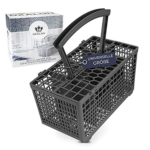 OXALON® Besteckkorb Spülmaschine universal mit robustem Boden durch Wellenform & stabilem Stand | Besteckkorb Spülmaschine - angenehmer Tragegriff mit integriertem Wasserablauf