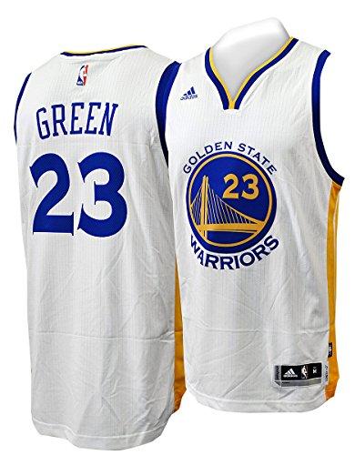 adidas NBA Golden State Warriors Draymond Green White Swingman Jersey (Small)