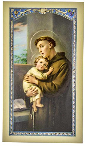 William J. Hirten Traditional Holy Cards with Catholic Art and Prayers (Saint Anthony)