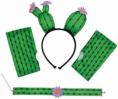 Kostüm Zubehör Kaktus Set 4tlg. Verkleidung Karneval Fasching