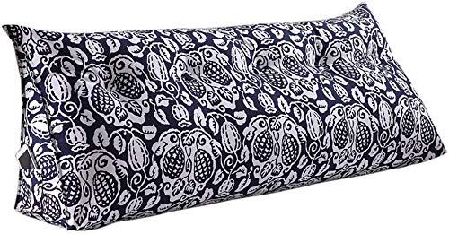 YLCJ Creative Light- Driehoek Kussen Dubbel nachtkastje Sofa Hoofdsteun Rugleuning Bed Breed Relaxing nachtkastje (Kleur: R, Afmetingen: 150 * 50 * 25 cm)
