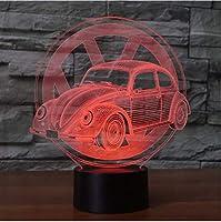 3D LED錯視ランプ クリエイティブカーサインライトナイトライト7色の変更アクリルテーブルUSBライト寝室の装飾としての贈り物