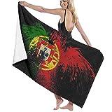Grande Suave Ligero Microfibra Toalla de Baño Manta,Bandera de Portugal,Hoja de Baño Toalla de Playa por la Familia Hotel Viaje Nadando Deportes Decoración del Hogar,52' x 32'
