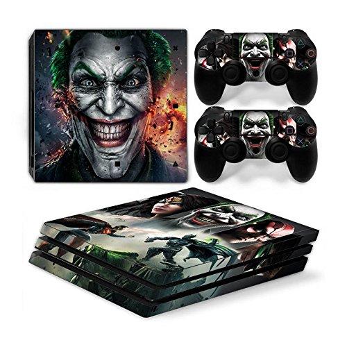 Funky Planet PS4 Pro PlayStation4 Pro Designfolie Sticker Skin Set für Konsole + 2 Controller by (PS4 Pro Joker)