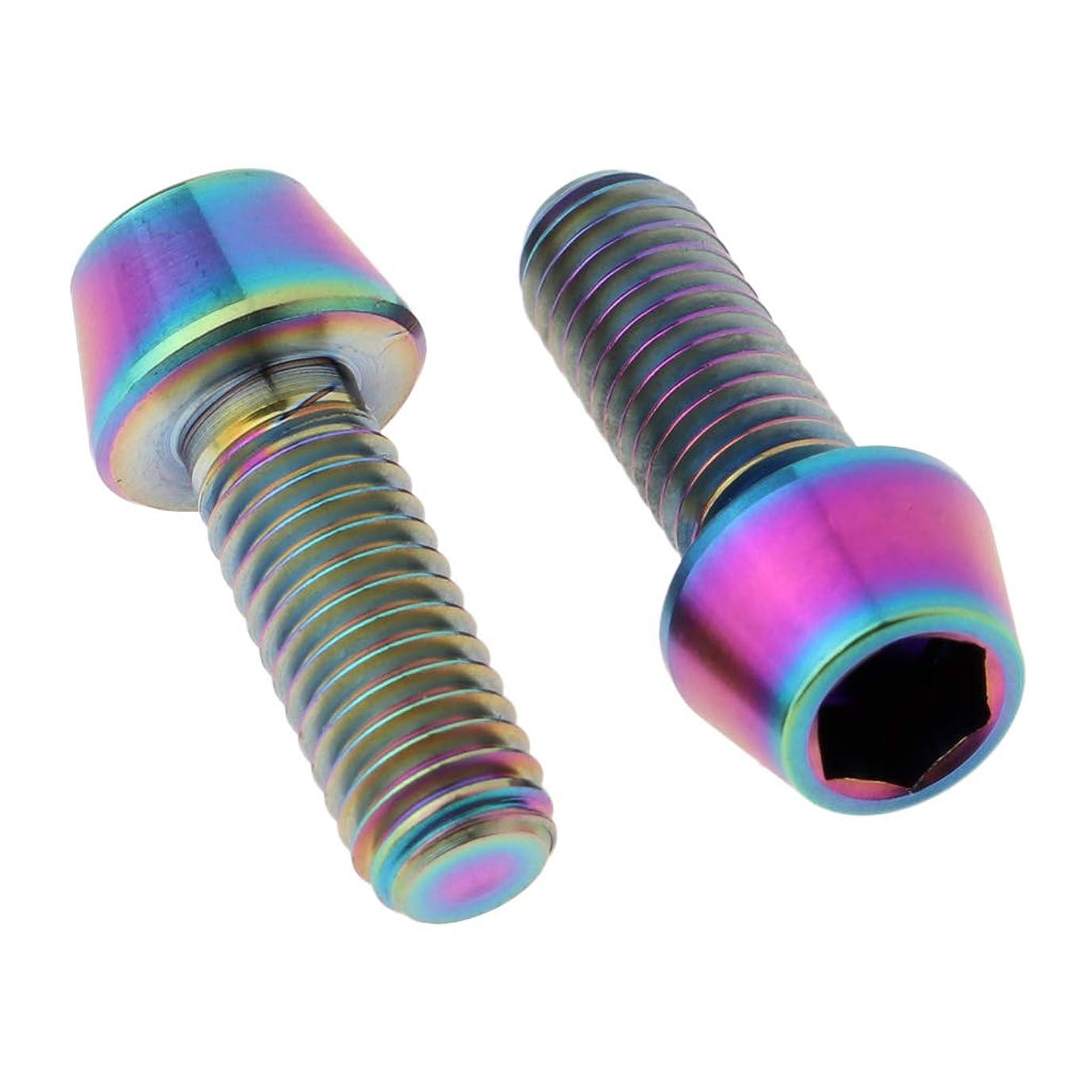 才能のあるミケランジェロ分布T TOOYFUL 2個 Tiねじ フェアリングボルト テーパ円錐ヘックスヘッド M6ボルト チタン合金製 全25種
