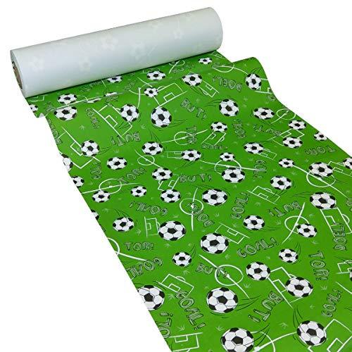JUNOPAX - Mantel de Papel, diseño de fútbol, Papel, Fußball, 50 m x 0,40 m