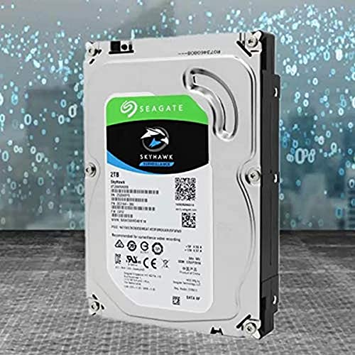 Seagate SkyHawk, 4 TB, Hard Disk Interno per Applicazioni di Sorveglianza, Unità SATA 6 GBit/s, 3.5', Cache 64 MB per Sistemi con Videocamere DVR e NVR, 3 Anni di Servizi Rescue (ST4000VX007)