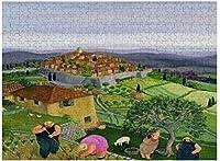 新しいセントポールデヴァンスパズル500ピース木製大人のジグソーパズルカラー抽象絵画パズル子供のための教育玩具ギフト