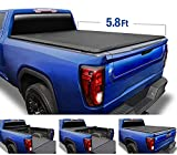 Tyger Auto T1 Roll Up Truck Tonneau Cover TG-BC1C9006 Compatible with 2014-2018 Chevy Silverado / GMC Sierra 1500; 2019 LD/Limited Only Fleetside 5'8' Bed |For models without Utility Track System